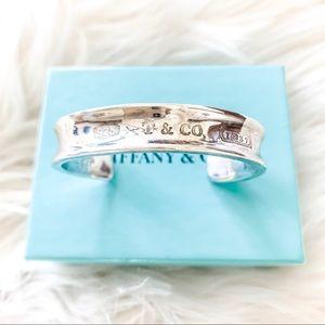 Tiffany&Co 925 Sterling Silver 1837 Cuff Bracelet
